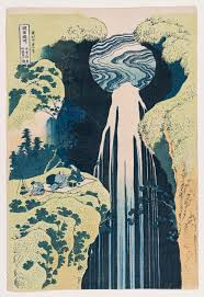 friday essay from the great wave to starry night how a blue  katsushika hokusai the amida falls in the far reaches of the kisokaido road kiso no oku amida ga taki 1834 35 from the a tour to the waterfalls in