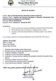Employment Opportunities Benguet State University