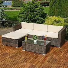 rattan corner sofa set woohoodeals