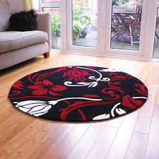 large round rugs flower