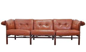 modern leather sofa. Arne Norell Leather Sofa, Model Ilona Modern Sofa