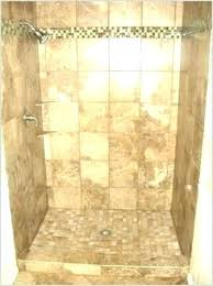 building a tile shower floor pan how to kit stall prefab get bathroom diy ceramic pebble