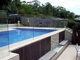 frameless pool fence channel fixed