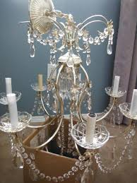 outstanding white painted wood chandelier