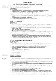 Print Resume Print Associate Resume Samples Velvet Jobs 7