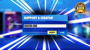 Create fortnite support creator code ...