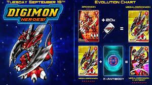 Digimon Heroes Megalogrowmon X Antibody