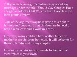 gay marriage essay 8 3