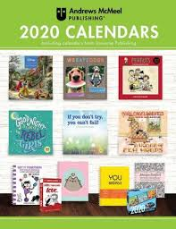 School Calendar Template 2020 17 Andrews Mcmeel Publishing 2020 Calendar Catalog By Andrews