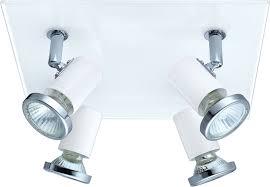 modern spot lighting. EGLO 31264A Tamara 1 Modern White \u0026 Chrome Halogen Ceiling Indoor Spot Lighting. Loading Zoom Lighting