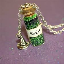 whole wicked necklace with a witch s hat charm once upon a time wicked zelena wizard of oz necklace best friend necklaces rose gold pendant necklace