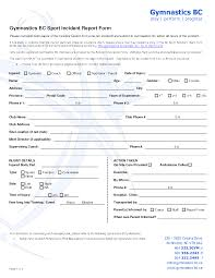 Best Photos Of Injury Incident Report Form Word Injury
