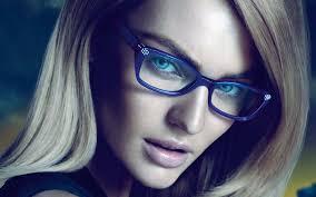Versace Blue Light Glasses Blonde Hair Blue Eyes Blue Frames Versace Glasses