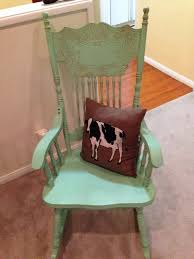 diy old wooden rocking chair painted