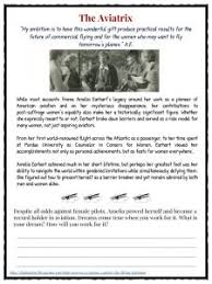 amelia earhart facts information worksheets for kids the aviatix