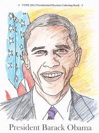 president barack obama coloring page from vote 2012 presidential election coloring book