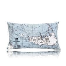 Nautical Chart Pillows Nantucket Outdoor Lumbar Pillow