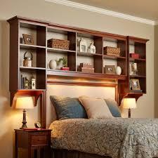 diy bed built in shelves