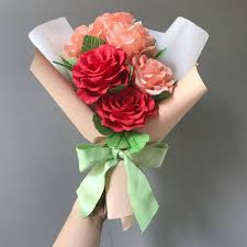 How To Wrap Flower Bouquet In Paper Learn How To Make Korean Wrapping Crepe Paper Flower Bouquet