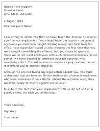 Letter Of Dismissal Template 100 dismissal letter example gcsemaths revision 80