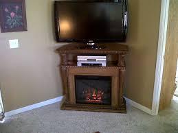 corinth 23in premium oak electric fireplace cabinet corner mantel package 23de1447 o107