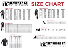 Wetsuit Size Chart Child Reef Wetsuits Size Chart Wetsuit Warehouse