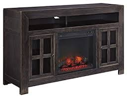 ashley furniture fireplace tv stand. Beautiful Stand Ashley Furniture Signature Design  Gavelston HandFinished TV Stand With  Fireplace Insert Black Intended Tv E