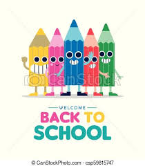Welcome Back Graphics Welcome Back To School Cartoon Pencil Friends