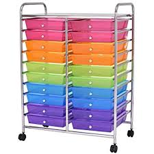 rolling carts for office. Giantex 20 Drawer Rolling Storage Cart Tools Scrapbook Paper Office School Organizer (20 Drawer) Carts For