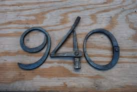 Decorative House Numbers Hand Crafted Hand Forged Metal House Numbers By Organic Iron