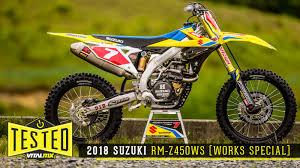 2018 suzuki motocross.  suzuki tested 2018 suzuki rmz450ws works special on suzuki motocross