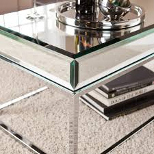 Infinity Coffee Table Furniture Appealing Mirrored Coffee Table For Living Room