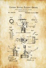 surgical instrument patent 1902 doctor office decor. 1880 Dentist Chair Patent \u2013 Print, Wall Decor, . Surgical Instrument 1902 Doctor Office Decor L