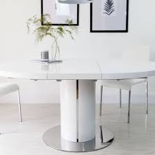 modern white round dining table table design white round dining modern round dining table home pictures
