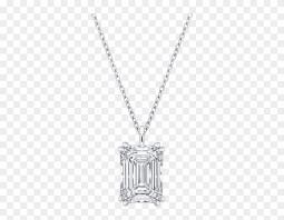 emerald cut diamond necklace pendant