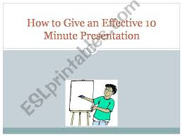 Esl English Powerpoints 10 Minute Presentation