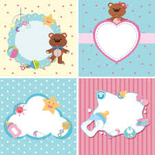 Four Background Templates With Baby Theme Royalty Free Stock Image