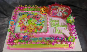 Shopkins Sheet Cake With Figure Set And Edible Image Layon