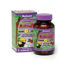 Bluebonnet Nutrition <b>Super Earth Rainforest Animalz</b> Vitamin D3 ...