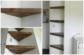 how to make diy floating corner shelves