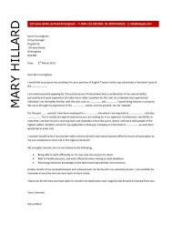 Cover Letter For Experienced English Teacher Adriangatton Com