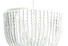 large beaded chandelier large wood bead chandelier large antique whitewash wood bead chandelier