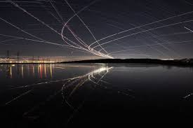 What Inspired Reflecting Road Lights To Be Invented The Impressionistic Tracings Of Airplane Lights At Night Wired