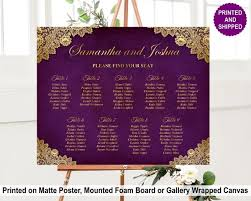 Purple Gold Seating Chart