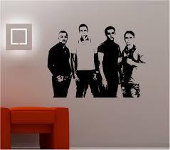 Wall Art Stunning Jls Band Image Wall Art Sticker Vinyl Lounge Bedroom Kids