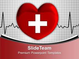 Heart Powerpoint Templates Heart With Cross Sign Medical Powerpoint Templates Ppt