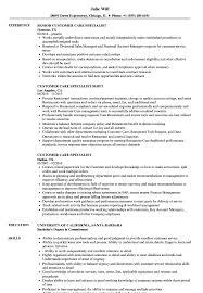 Customer Service Specialist Resume Customer Care Specialist Resume Samples Velvet Jobs 13