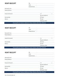Collection Receipt Template Rent Receipt Template Free Microsoft Word Templates free rent 1