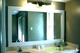 wood framed bathroom mirrors wall mirror with wooden frame white unfinished