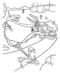 Small Picture Looneytunes Roadrunner Escape from Wile E Coyote Coloring Pages